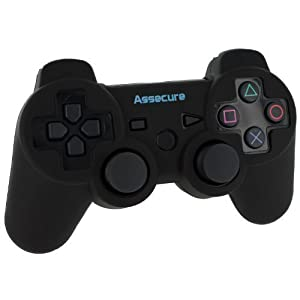 Assecure Pro Silicone Gel Skin Cover Case Grip For Sony PS3 Controller [Playstation 3] - Black