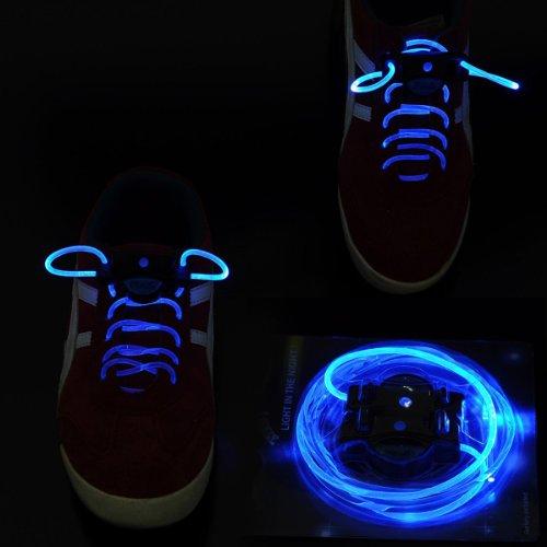 Besideyoushop Led Shoelace Light Up Shoe Flashing Blue Color 1 Pair, Batteries Included