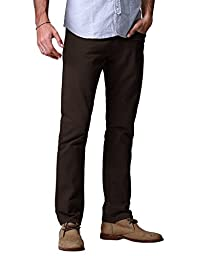 Match Men\'s Slim Fit Straight Leg Casual Pants(32, 8032 Coffee)