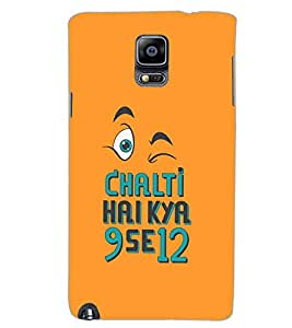 SAMSUNG GALAXY NOTE 3 CHALTI KYA 9 SE 12 Back Cover by PRINTSWAG