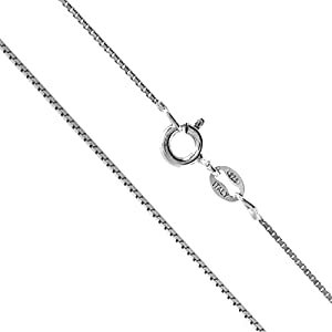 Sterling Silver 1mm Box Chain (14 Inches)