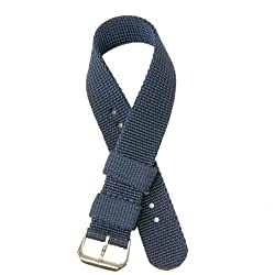 Nylon Watch Band Strap Navy Blue Color 20mm