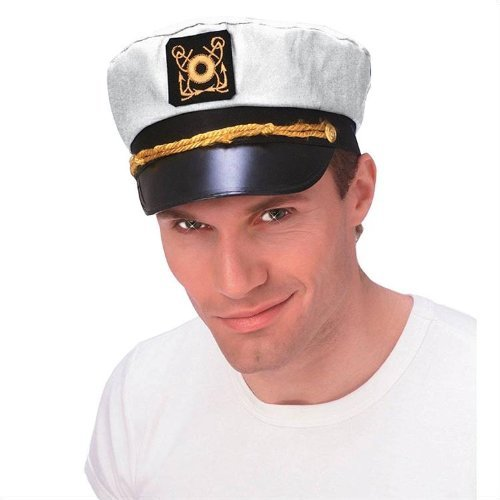 White Captain Yacht Hat