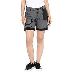 Chlorophile Women's Shorts (Bls_Black /Grey_32)