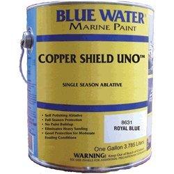 Copper Shield Uno Royal Blue Quart - 35 Copper Ablative - Marine Paint Antifouling Bottom Paint - iPaint.us