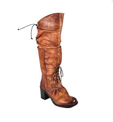 Area Forte Women's Varsavia Sigaro Brown Leather Knee-High Boot 37