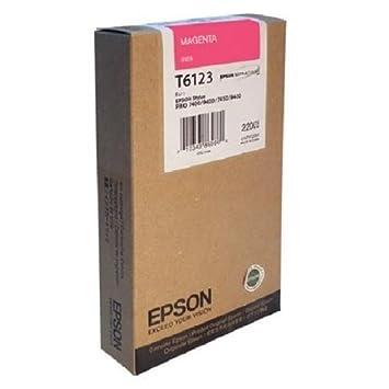 C13T612300 - Tintenpatrone Magenta T6123 fur Stylus Pro 7400 / 7450 / 9400 / 9450 SP-7450/9450 220ML MAGENTA