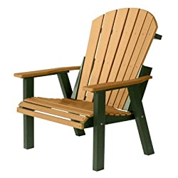 Berlin Gardens 2' Comfo-Back Resin Chair - Cedar on Green