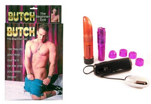 Pipedreams- Butch The Beginner Doll Multi-Product Value Bundle - Sex Toy Kit