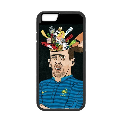 Artswow Franck Ribery Association Football Winger Cartoon Custom Plastic TPU Cell Phone Case for iPhone 6 Plus 5.5 Inch