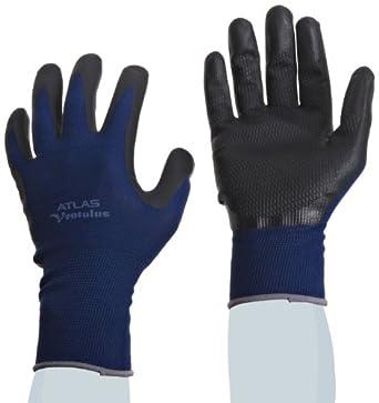 Showa Best 380 Atlas Ventulus Patented Waffle Pattern Foamed Nitrile Palm Coating Glove, 13-Gauge Seamless Knitted Liner