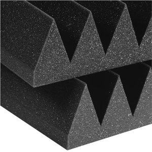 "Acoustic Foam (12 Pack Kit) - Wedge 4"" 12"" X 12"" Covers 12Sq Ft - Soundproofing/Blocking/Absorbing Acoustical Foam - Made In The Usa!"