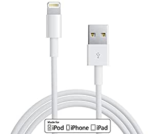 [MFi Certified] 2 Pack x Lightning Cable to USB, 1M, Travel Friendly Case, White, 1 Year Warranty