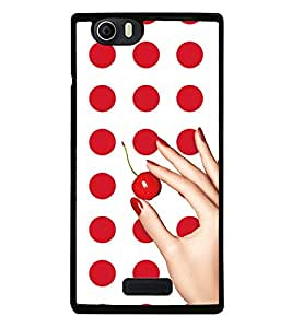 Red Dots Pattern 2D Hard Polycarbonate Designer Back Case Cover for Micromax Canvas Nitro 2 E311