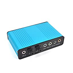 Tenflyer Digital Profissional USB 6 Channel External Sound Card 5.1 Surround Adapter Audio S/PDIF for Laptop