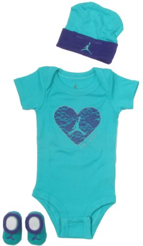 Jordan Baby Clothes Lace Heart Set for Baby Girls (One Size 0-6 Months) Turquoise, 0-6 Months