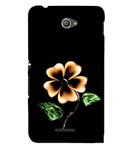 Flower with Fire 3D Hard Polycarbonate Designer Back Case Cover for Sony Xperia E4 Dual