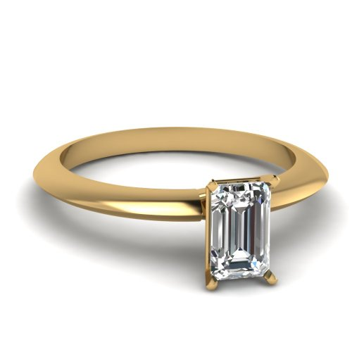 Fascinating Diamonds 0.70 Ct Emerald Cut Very Good Diamond Modern Designer Knife Edge Engagement Ring Gia