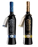 Masia el Altet Duo- Award Winning, Cold Pressed EVOO Extra Virgin Olive Oils, 2012-2013 Harvest, two 17-Ounce Glass Bottles