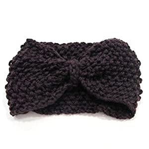 Crochet Flower Bow Knitted Headwrap Headband Ear Warmer Hair Muffs Band Winter