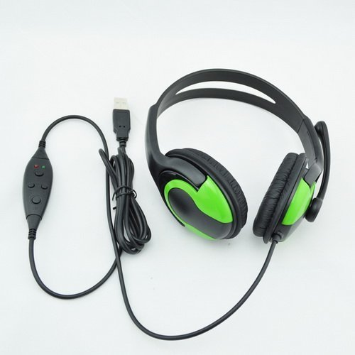 Purchase Goliton® High Quality Wired Two- Sides Big Headphone for PS3 Black and Green