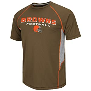 NFL Cleveland Browns Men's Fanfare VI Short Sleeve Tee, Cardinal Brown/Steel/Dark Orange/White, Medium