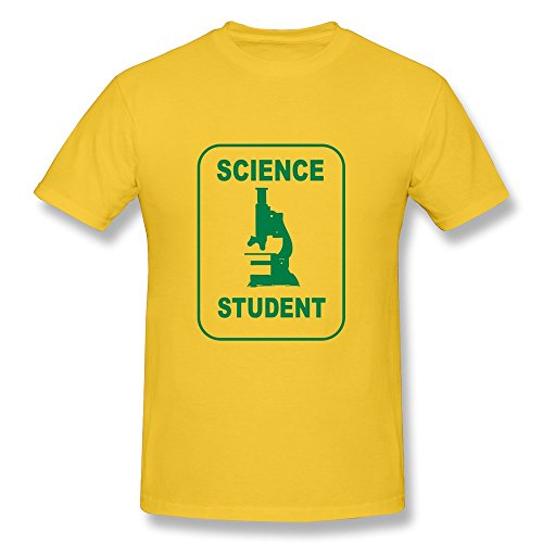 Custom Make Mens Science Student Microscope T Shirts,Music T Shirts Gold Xxl