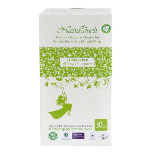 Natratouch Organic Sanitary Pads Ultra Slim with Wings 30 piece (Medium)