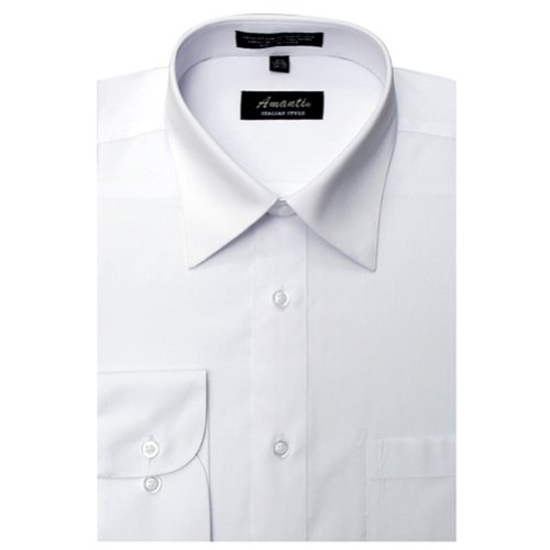 Amanti Dress Shirt-White -Size: 15.5-Sleeve: 34/35-Neck: 15.5