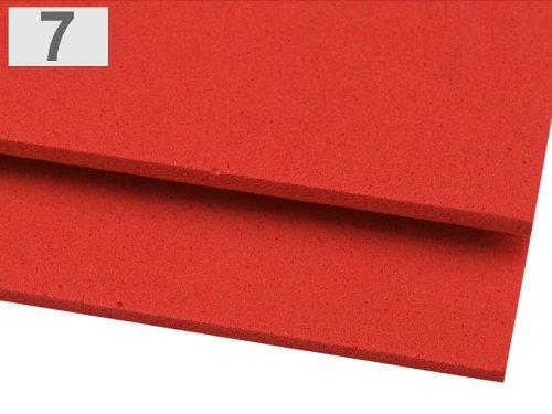 Moosgummi Platten, 20 Stück ca. 20x30cm DIN A4 in verschiedenen Farben – wählbar (7 – rot) online bestellen