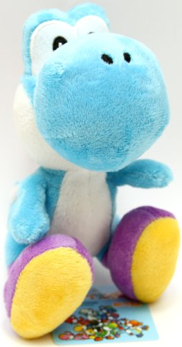Buy Low Price Japan VideoGames Super Mario Plush – Yoshi Island – 5.5″ – Light Blue Figure (B000S0H35C)