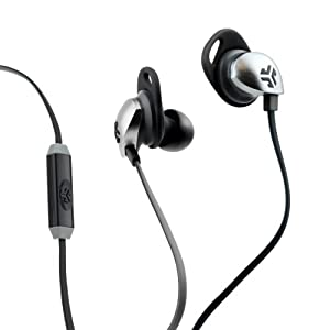 JLab JBuds EPIC Earbuds with 13mm C3 Massive Drivers and Customizable Cush Fins - Black/Gray