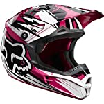 FOX V1 UNDERTOW MX/OFFROAD HELMET BLACK/PINK LG