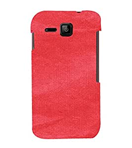 PrintVisa Red Canvas Paper Design 3D Hard Polycarbonate Designer Back Case Cover for Micromax Bolt S301