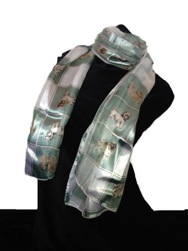 green-dog-scarf-with-a-square-design-and-different-dog-breeds