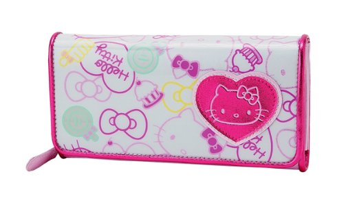 Hello Kitty Long Wallet: Glitter Ribbon