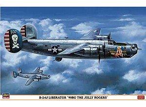 B-24J Liberator 90BG Jolly Rogers USAAF Bomber 1/72 Hasegawa