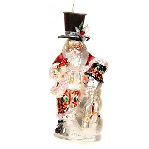 Mark Roberts Glass Christmas Ornament 36-44030 Santa Snowman