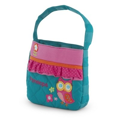 Personalized Quilted Owl Purse front-170195