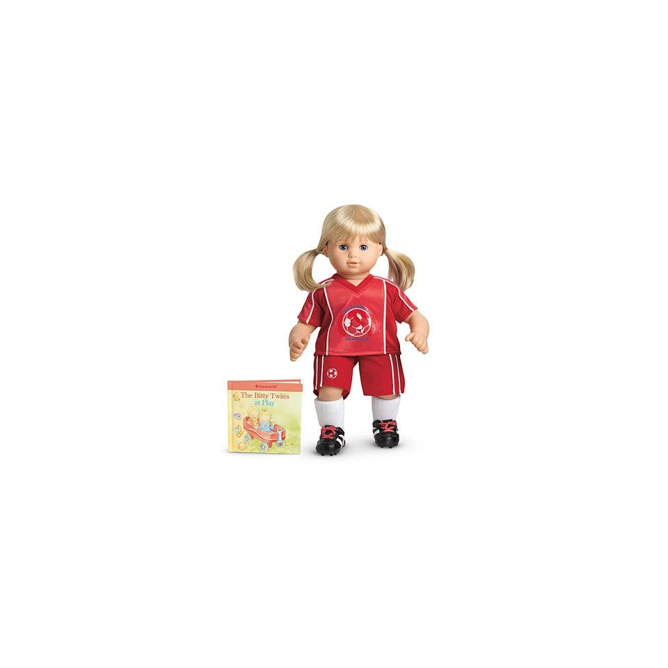 American Girl Bitty Twins Red Soccer Outfit also fits Bitty Baby ~DOLL IS NOT INCLUDED~
