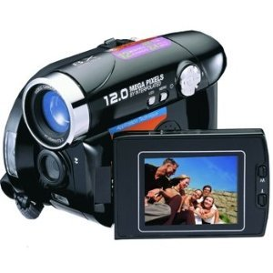 Mitsuba DV9002 12MP 8x Digital Zoom Camera/Camcorder (Black)