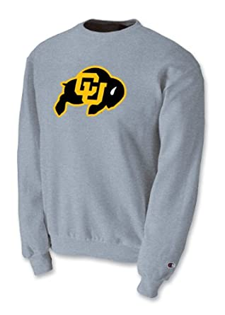 Champion NCAA Unisex Adult Colorado Golden Buffaloes Powerblend Crew (Grey, XXLarge) by Champion