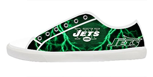 DONGMEN Creative NFL Nonslip New York Jets Men's Canvas Shoes Lace-up Low-top Sneakers Fashion Running Shoes