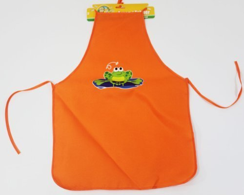 Backyard Travels Frog Kids Apron - Orange