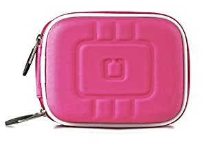 Limited Edition Magenta Eva Mini Hardshell Lightweight Carrying Case For Canon PowerShot Series Point & Shoot Digital Cameras