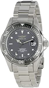 Invicta Men's 12812X Pro Diver Charcoal Grey Dial Stainless Steel Watch