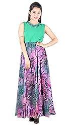 Fabrizia Women's Georgette Dress (FWLD-09_Multi-Coloured_Small)