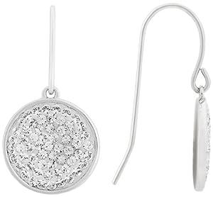 Swarovski Damen-Ohrhänger Metall 2.6 cm rhodiniert Kristall in Pointiage Technik klar 1179814
