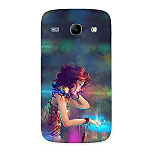 Cute DJ Girl Back Case Cover for Galaxy Core