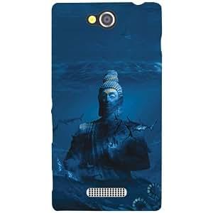 Sony Xperia C Back Cover - Blue Designer Cases